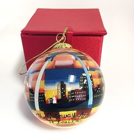 Gateway Arch Urban Sunset Glass Ornament