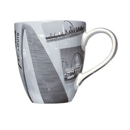 Gateway Arch and Old Courthouse Vintage Mug