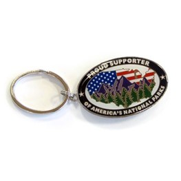 Keychain: Proud Supporter of America's National Parks