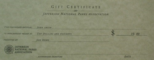 Store Gift Certificate-$10.00