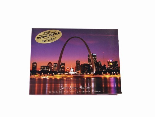 Gateway Arch Skyline at Night Puzzle
