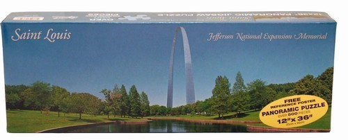Gateway Arch Reflection Panoramic Puzzle