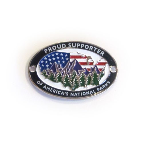 Proud Supporter of America's National Parks Walking Stick Emblem