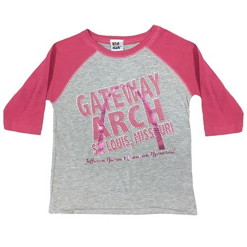 Arch Baseball Heather & Pink