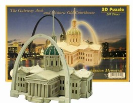 Gateway Arch and Historic Old Courthouse 3-D Puzzle