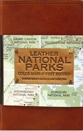 Leather National Parks Color Maps and Visit Record