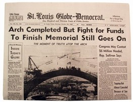 Newspaper: Arch Completed