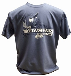 Men's T-Shirt: Voyageurs National Park Established- Blue
