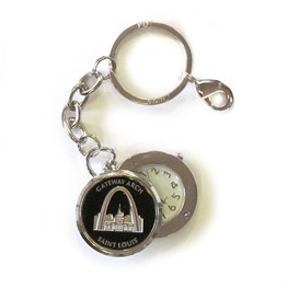 Swivel Clock Keychain: Gateway Arch