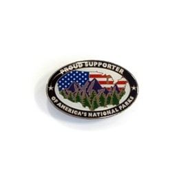 Pin: Proud Supporter of America's National Parks