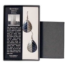 Gateway Arch Steel Earrings