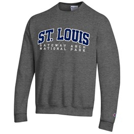 St Louis Applique Sweatshirt-Heather Grey