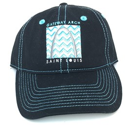 Arch Black Baseball Cap with zig zag design