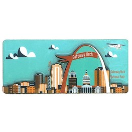 Arch with Plane _mint magnet