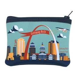 Arch with Plane_mint coin purse
