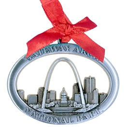 Arch 3-D Skyline Ornament-Pewter