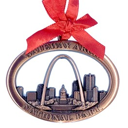 Arch 3-D Skyline Ornament- Copper